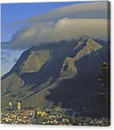 Lenticular Cloud Over Table Mountain Canvas Print