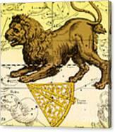 Leo, The Hevelius Firmamentum, 1690 Canvas Print