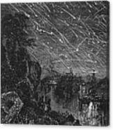Leonid Meteor Shower, 1833 Canvas Print