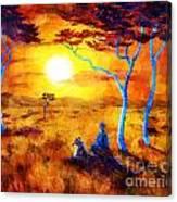 Leopard Dream Meditation Canvas Print