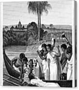 Leper, 1837 Canvas Print