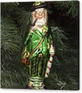 Leprechaun Christmas Ornament Canvas Print