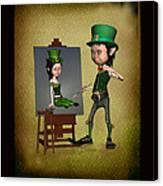 Leprechaun Painter Canvas Print