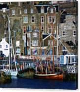 Lerwick Harbour Shetland Canvas Print