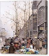 Les Halles And St. Eustache Canvas Print