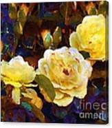 Les Roses Sauvages Canvas Print