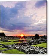 Lesnes Abbey Ruins Sunset Canvas Print