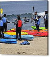Lessons In Kayaking Canvas Print