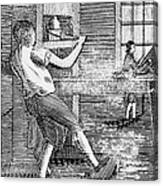 Letter Press Printer, 1807 Canvas Print