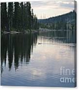 Lewis Lake With Waterfowl Canvas Print