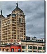 Liberty Building And Hotel Lafayette Canvas Print
