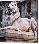Library Lion-new York City Canvas Print