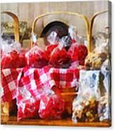 Licorice And Chocolate Covered Peanuts Canvas Print