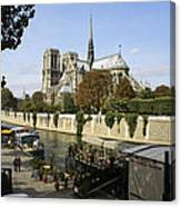 Life Along The River Seine Canvas Print