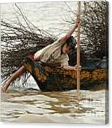 Life On Lake Tonle Sap 3 Canvas Print
