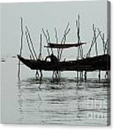 Life On Lake Tonle Sap  Canvas Print