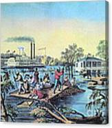 Life On The Mississippi, 1868 Canvas Print