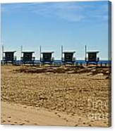 Lifeguard Stand's On The Beach Canvas Print