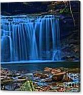 Light Blue Falls Canvas Print