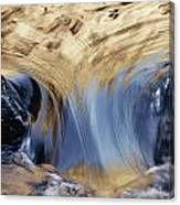 Light Reflected On Water Flowing Canvas Print