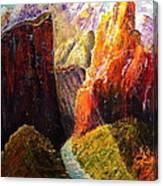 Light Through The Canyon Canvas Print