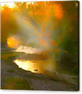 Light Up The Creek Canvas Print