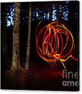 Light Writing In Woods Canvas Print