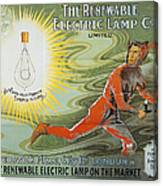 Lightbulb Ad, 1900 Canvas Print