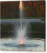 Lighted Fountain Canvas Print