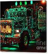 Lighted Green Dumptruck Canvas Print