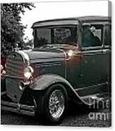 Lighted Old Black And White Canvas Print