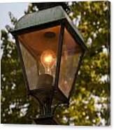 Lighted Street Lamppost Canvas Print