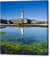 Lighthouse And Tide Pool Canvas Print