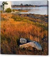 Lighthouse At Dawn Canvas Print