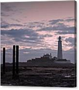 Lighthouse At Low Tide II Canvas Print