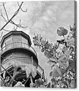 Lighthouse B And W Canvas Print