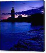 Lighthouse Beacon At Night Canvas Print
