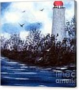 Lighthouse Blues Painterly Style Canvas Print