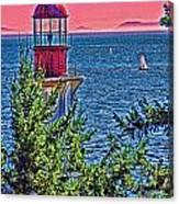 Lighthouse Hdr Canvas Print