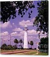 Lighthouse In Biloxi Mississippi Canvas Print