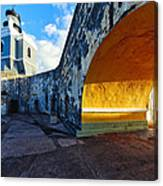 Lighthouse In Fort El Morro Canvas Print
