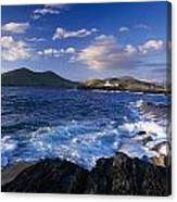 Lighthouse In The Distance, Fort Point Canvas Print