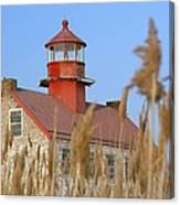Lighthouse In Wheat Field Canvas Print