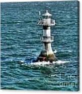 Lighthouse On The Blue Sea Canvas Print