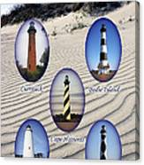 Lighthouses Of The Outer Banks Canvas Print