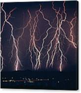 Lightning Near Barstow, California Canvas Print