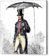 Lightning Rod Umbrella Canvas Print