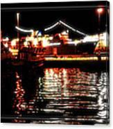 Lights Of Harbor Canvas Print