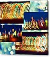 Lightshow Collage Canvas Print
