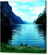 Ligth Fjord Norway Canvas Print